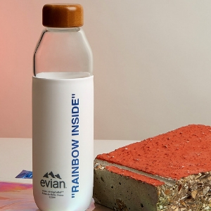 So refreshing: Virgil Abloh and Evian share their limited-edition sustainable glass bottle collection