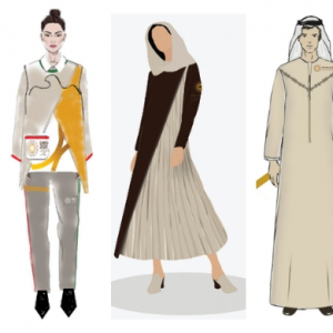 The three finalists for the Expo 2020 uniform design competition have been announced