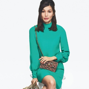 Gemma Chan is sporting the ubiquitous neon hue for a new fashion campaign
