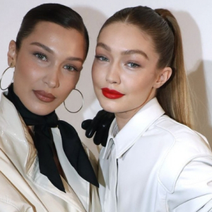 OK. We're practically seeing double with Gigi and Bella Hadid