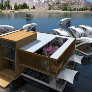 The floating hotel with catamarans as bedrooms