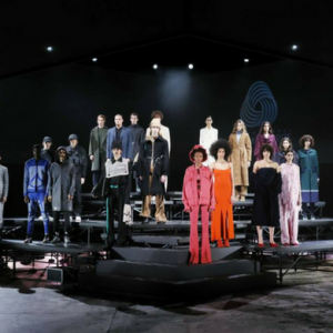 Miroslava Duma presents the inaugural Innovation Award at the 2018 International Woolmark Prize