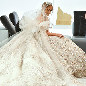 Jennifer Lopez dazzles in Zuhair Murad wedding gown