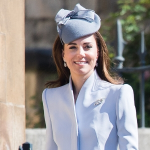 The Duchess of Cambridge looked positively darling in a baby blue ensemble on Easter Sunday