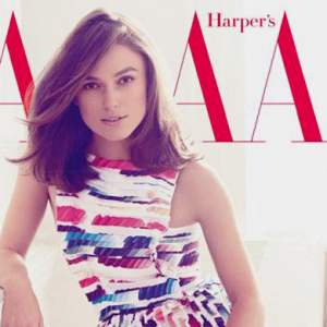 Keira Knightley stars as the cover girl of British Harper's Bazaar