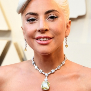 Wow. Lady Gaga wore a 128.5-carat Tiffany & Co. Yellow Diamond necklace at the 2019 Oscars