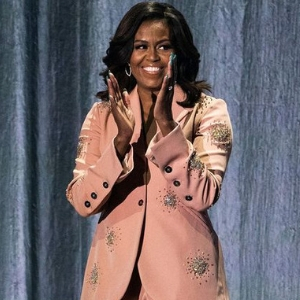 Michelle Obama brought out some hot outfit bling on her book tour