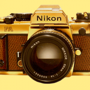 Limited edition: Nikon FA in 24 carat gold