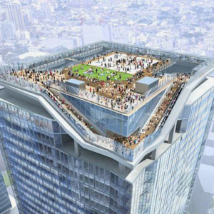 A new tower in Tokyo will offer stunning views from 3000 sq ft roof plaza