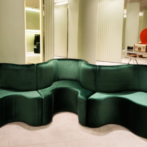 Prada celebrates Salone del Mobile with CloverLeaf sofas