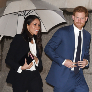 Meghan Markle steps out in Alexander McQueen for her first awards ceremony as a royal-to-be