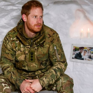 Prince Harry had a very icy Valentine's Day in an igloo