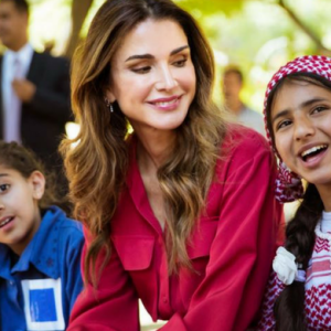 Queen Rania just wore a dress by one of your favourite UAE-based designers