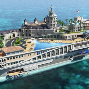 Superyacht built to resemble the streets of Monaco