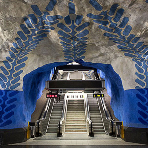 Stockholm's subway is a cultural tourist attraction