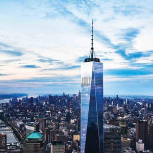 Watch now: The One World Trade Center elevator features a 500 year timelapse of NYC