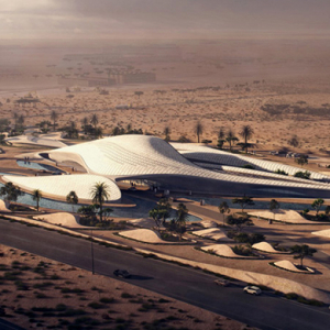 Zaha Hadid reveals new plans for a futuristic building in the Arabian Desert