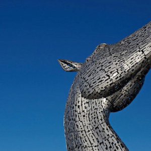 The giant horse head sculptures that tower over Scotland