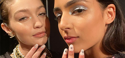 Logo nails are in and you have Chanel to thank