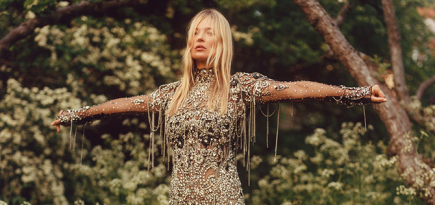 Kate Moss gets in front of the lens for Alexander McQueen