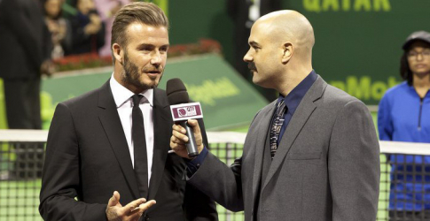 David Beckham makes a surprise appearance in Doha