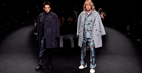 Derek Zoolander and Hansel McDonald walk the Valentino runway