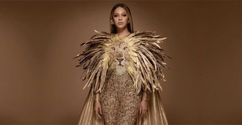 Beyoncé's custom lion bodysuit by Georges Hobeika is anything but fierce