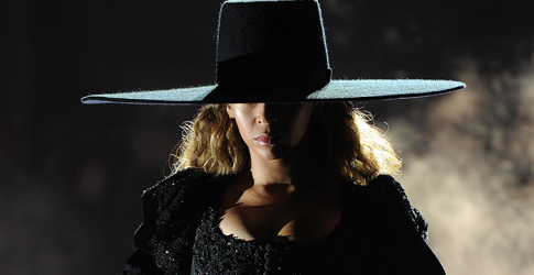 Beyonce back in black: Her Dsquared2 Formation dress