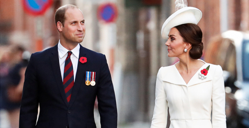 The British royals mark centenary war memorial in Belgium