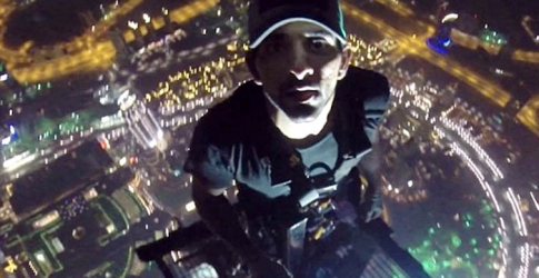 Sheikh Hamdan films from top of world's tallest skyscraper