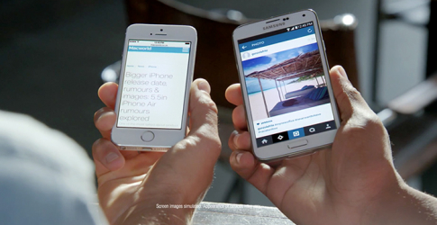 Samsung mock iPhone users for having 'screen envy'