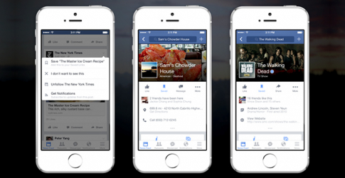 Facebook introduces the 'Save' function