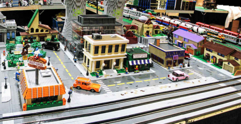 A Lego replica of The Simpsons' Springfield