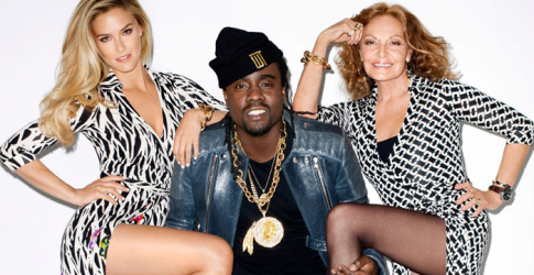 Diane Von Furstenberg, Bar Refaeli, and Wale, pose for Terry Richardson