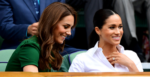 Kate and Meghan have arrived to watch Serena Williams at Wimbledon