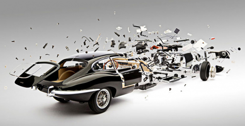 Fabian Oefner captures an explosion of classic cars in his latest work