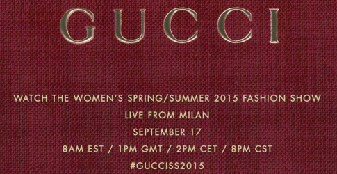 Live from Milan Fashion Week: Gucci Spring/Summer 15
