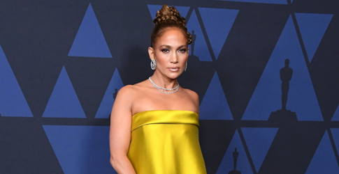 Jennifer Lopez's gold Reem Acra look just shut down the red carpet