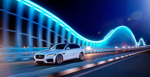 The all-new Jaguar XF unveiled in the UAE