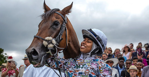 Khadijah Mellah makes history as the first female jockey to race – and win – in a hijab
