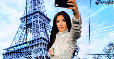 Kim Kardashian's new waxwork is wearing Balmain