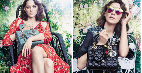 Marion Cotillard in the lens for the new Dior campaign