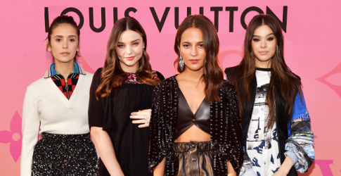 It was a star-studded affair at the Louis Vuitton X exhibition in LA