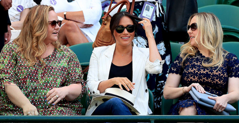 The Duchess of Sussex made a rare outing at Wimbledon to support Serena Williams