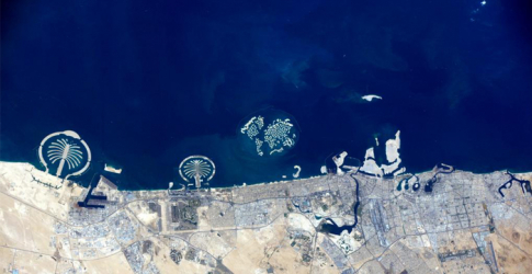 NASA astronaut tweets image of Dubai coastline from space