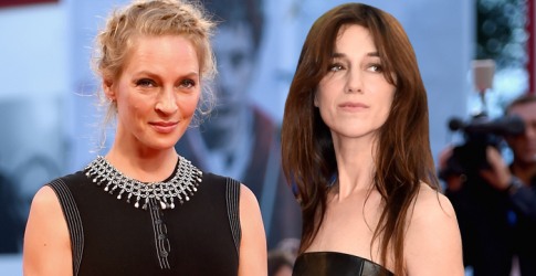 Uma Thurman and Charlotte Gainsbourg at the Venice Film Festival