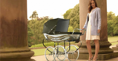 Bouncing baby: The limited edition £5,000 Silver Cross pram