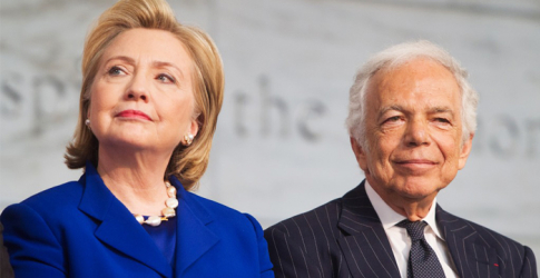 Ralph Lauren receives an award from the Smithsonian Institution