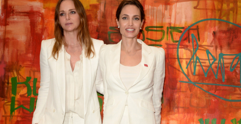 Stella McCartney and Angelina Jolie launch the 'Draw Me to Safety' initiative