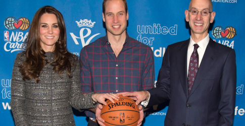 The Duke and Duchess of Cambridge sit courtside with Jay Z and Beyoncé at Brooklyn Nets game